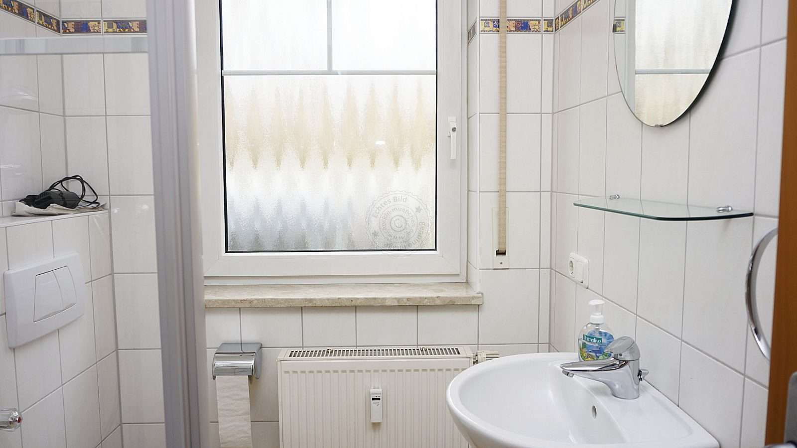 Private bathroom with matt window