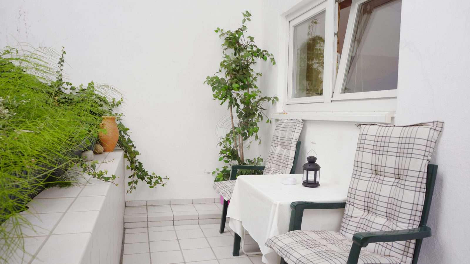 Small, private terrace - an idyll after a busy day
