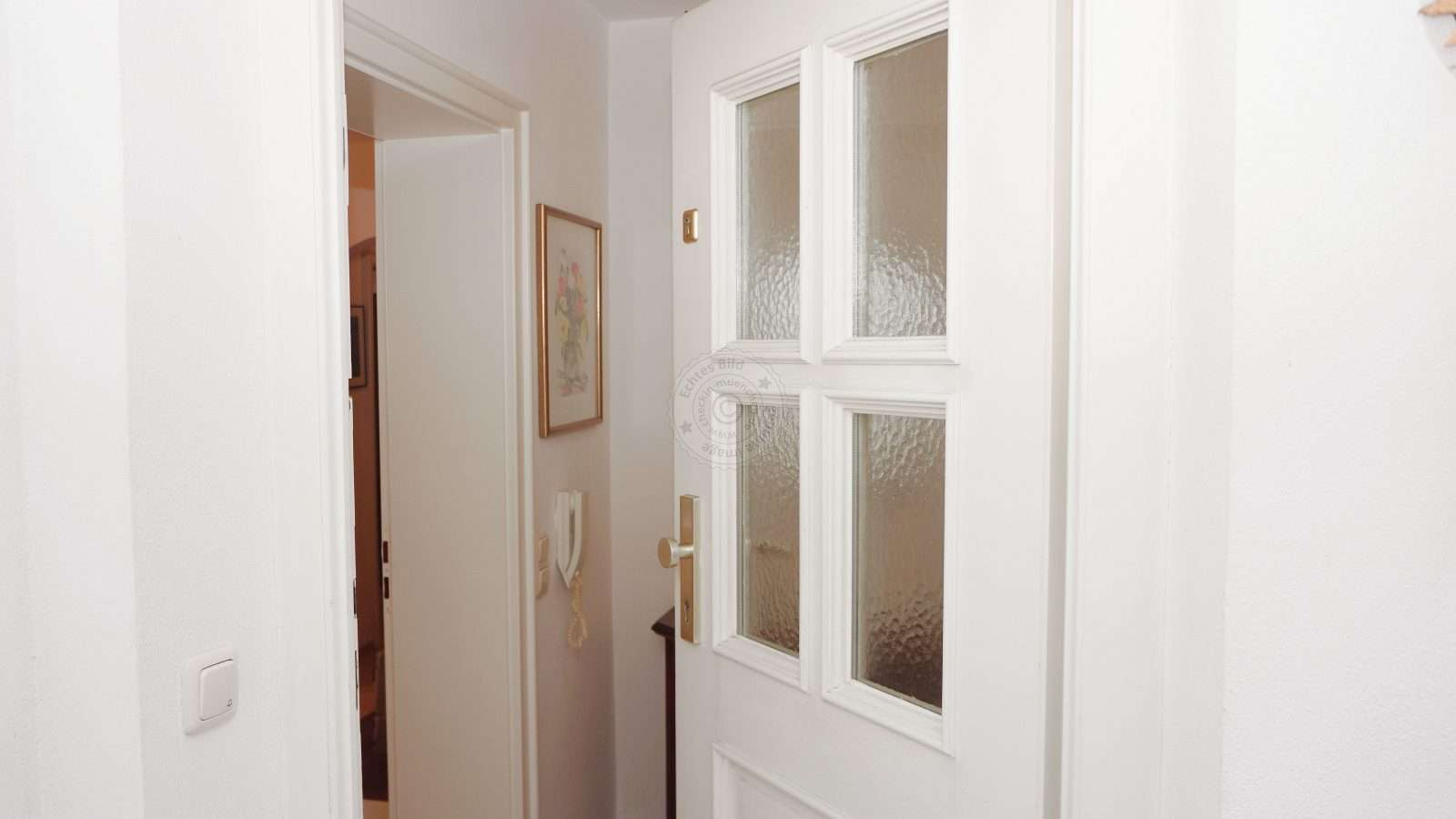 Private house entrance leads to the apartment